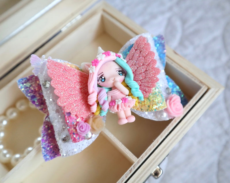 Rainbow Princess Deluxe Clay Bow