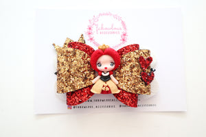 Queen Of Hearts Deluxe Clay Bow