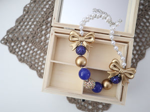 Bubblegum Bead Necklace | Royal Blue