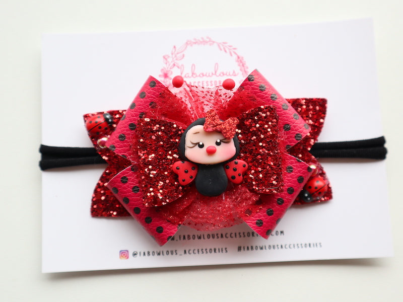 Miss Lady Bug Bow
