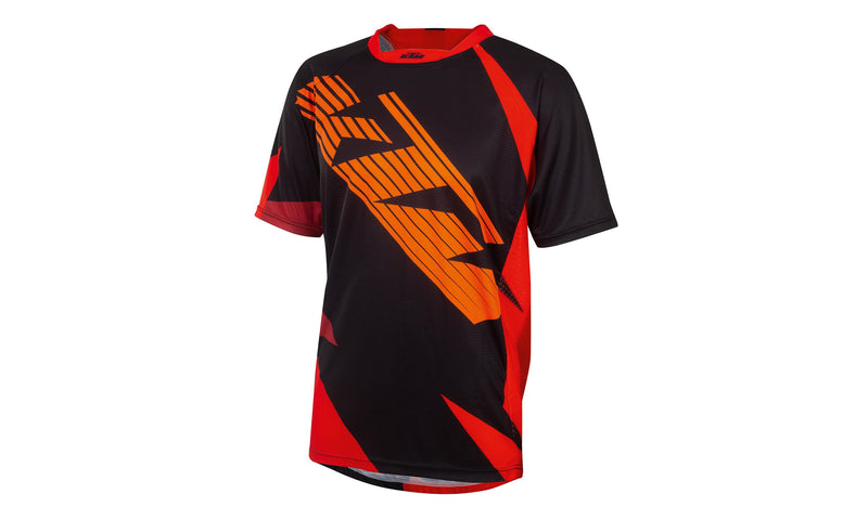 Factory Enduro  Shirt Shortsleeve Black/Orange/Red
