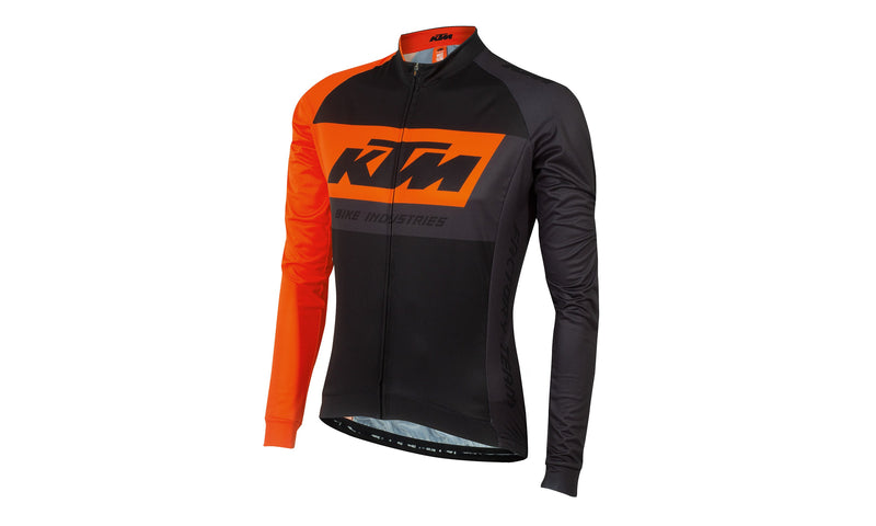Factory Team  Jersey Longsleeve Black/Orange/Grey