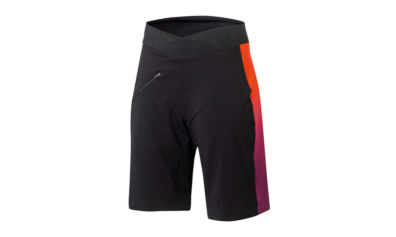 Lady Character Shorts With Inner Pant Black/Orange/Berry