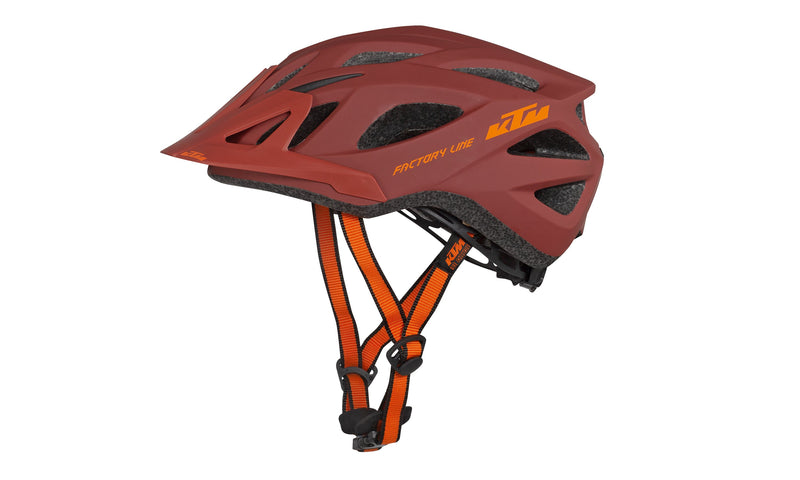 Factory Line Helmet Red/Orange Matt