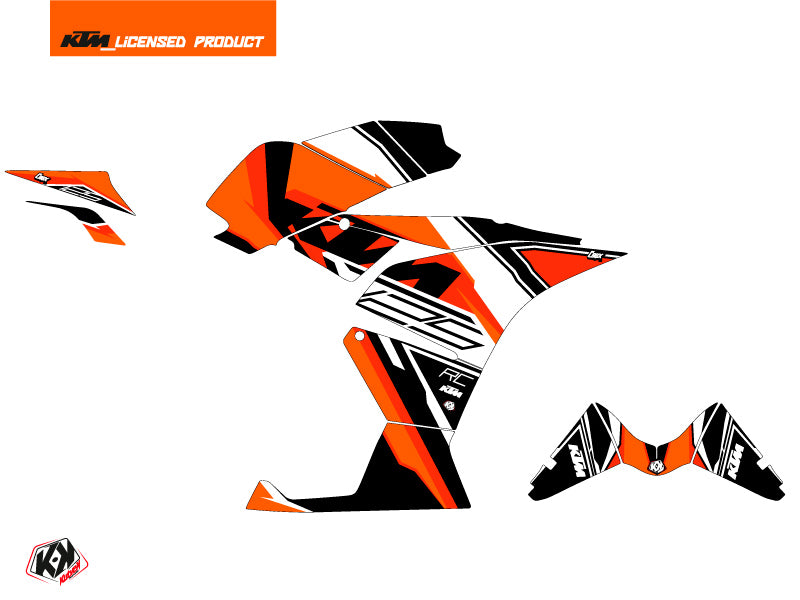 KTM 125 RC Crux Graphic Kit Orange