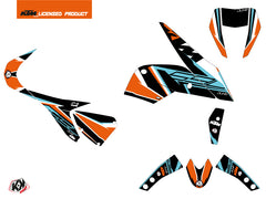 KTM Duke 690 Street Bike Crux Graphic Kit Orange Blue