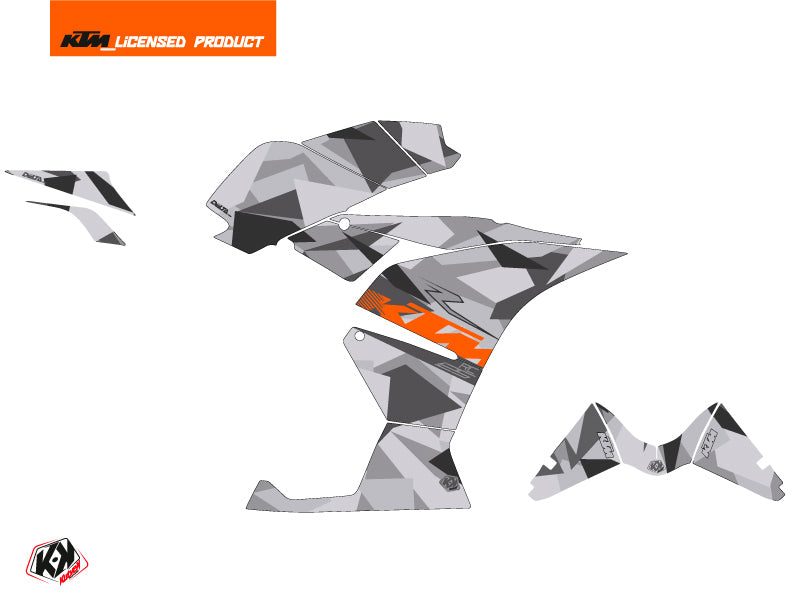 KTM 125 RC Delta Graphic Kit Grey Orange