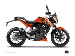 KTM Duke 125 Eraser Graphic Kit Orange Black