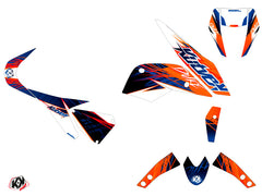 KTM Duke 690 Eraser Graphic Kit Blue Orange