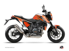 KTM Duke 690 R Street Bike Eraser Graphic Kit Orange Black