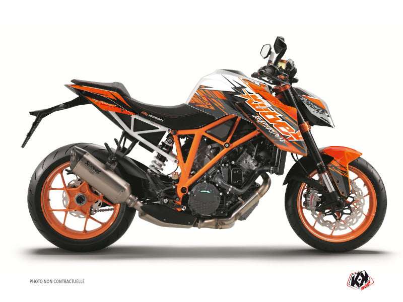 KTM Super Duke 1290 R Street Bike Eraser Graphic Kit Orange Black