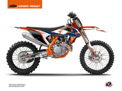 KTM 250 SXF Dirt Bike Gravity Graphic Kit Blue