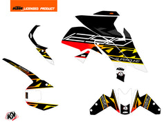 KTM Super Duke 1290 R Street Bike Mass Graphic Kit Black Yellow