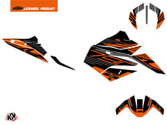 KTM Duke 790 Street Bike Perform Graphic Kit Black Orange