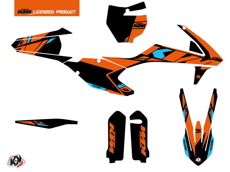 KTM 125 SX Dirt Bike Reflex Graphic Kit Orange