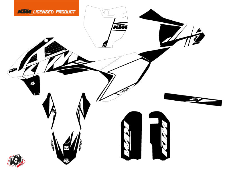 KTM 50 SX Dirt Bike Reflex Graphic Kit White