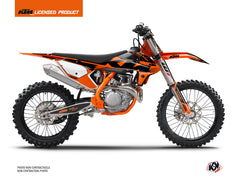 KTM 250 SX Dirt Bike Retro Graphic Kit Orange