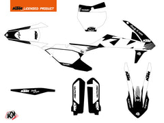KTM 450 SXF Dirt Bike Retro Graphic Kit Black