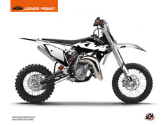 KTM 50 SX Dirt Bike Retro Graphic Kit Black