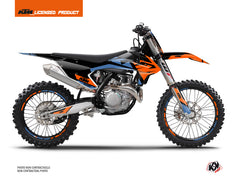 KTM 125 SX Dirt Bike Skyline Graphic Kit Blue