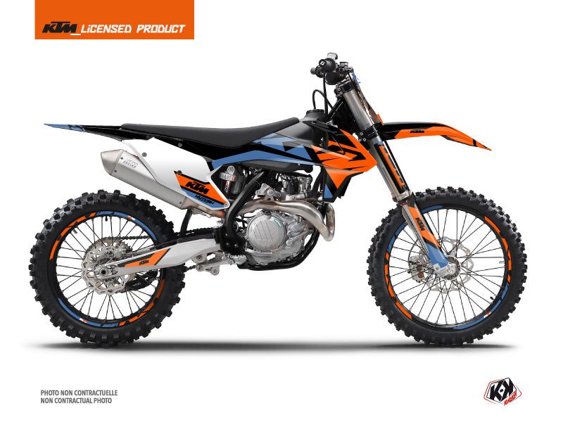 KTM 450 SXF Dirt Bike Skyline Graphic Kit Blue