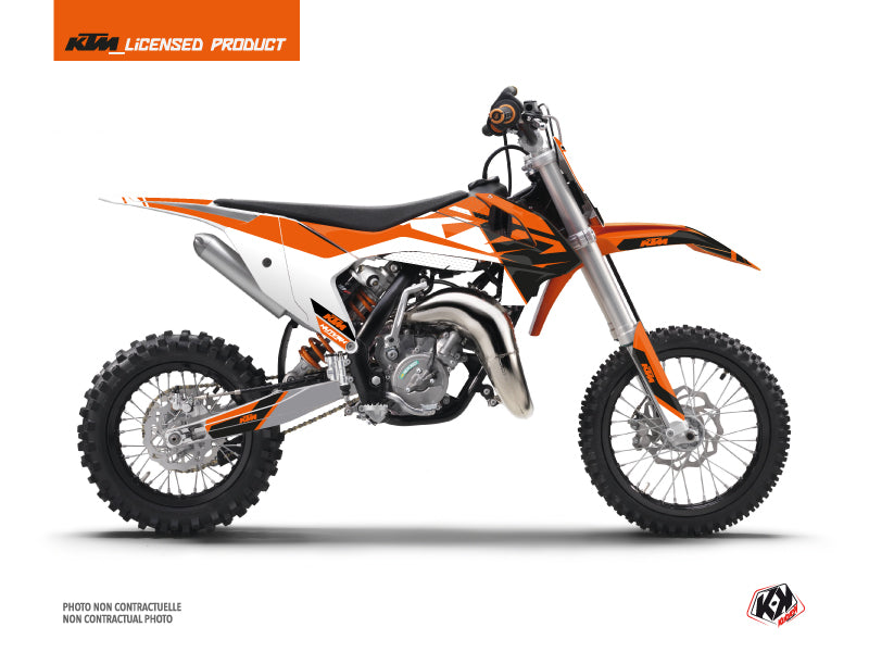 KTM 50 SX Dirt Bike Skyline Graphic Kit Orange