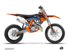 KTM 85 SX Dirt Bike Skyline Graphic Kit Blue