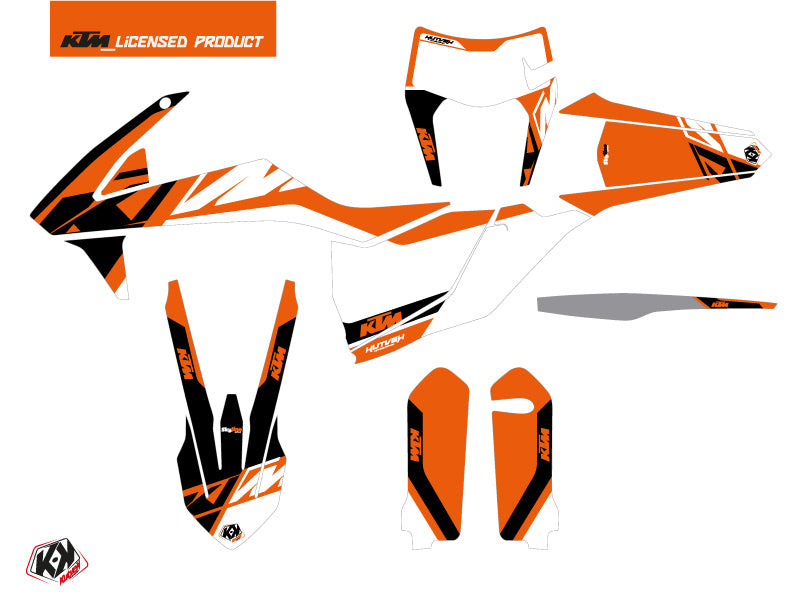 KTM EXC-EXCF Dirt Bike Skyline Graphic Kit Orange