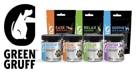 Green Gruff family of dog supplements