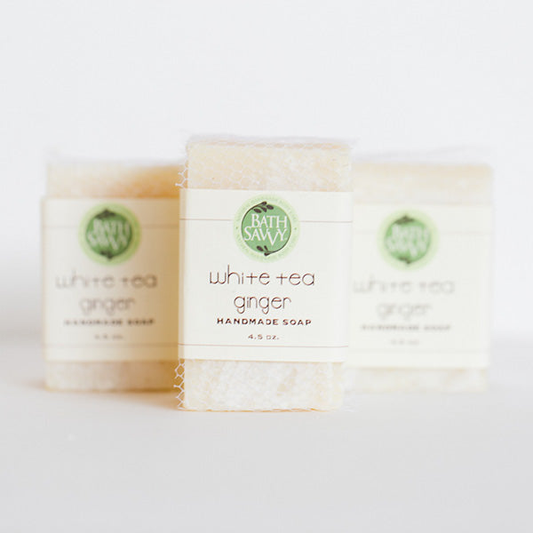 White Tea Ginger Handmade Soap Bath Savvy