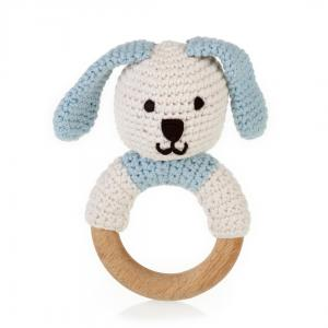 Blue Bunny Ring Rattle