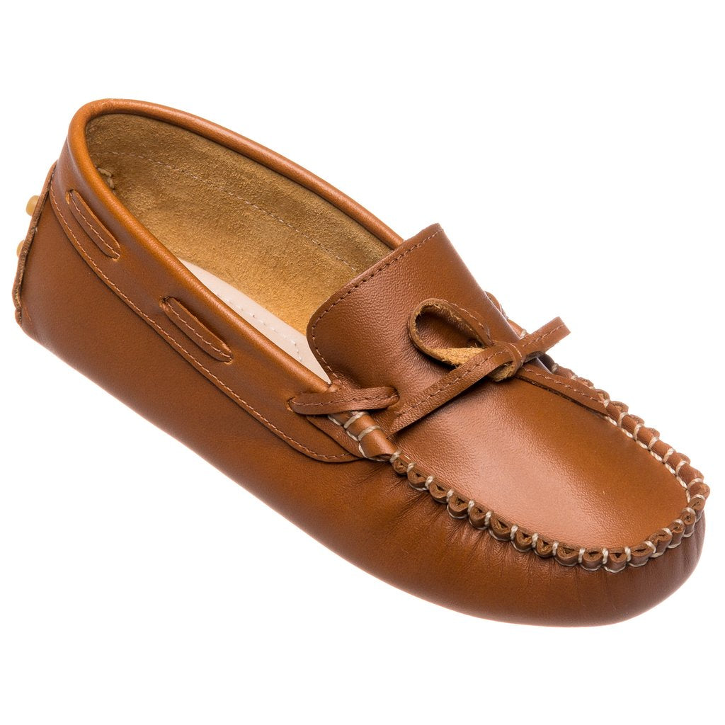 Driver Loafers- Natural Leather - Mumzie's Children