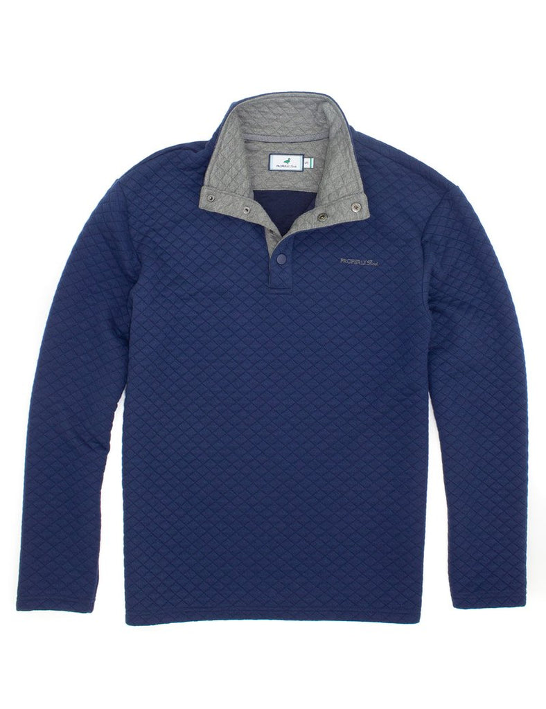 Properly Tied- Club Pullover Navy - Mumzie's Children