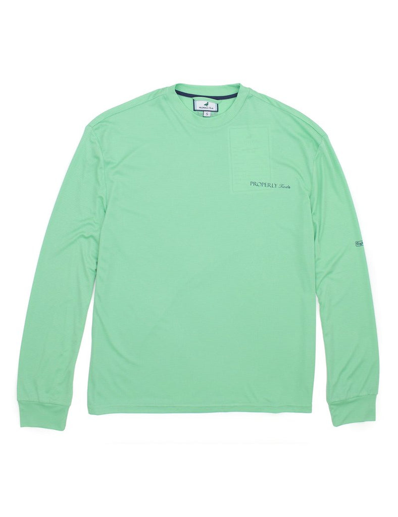 Properly Tied- Flight Cool Tech LS Seafoam