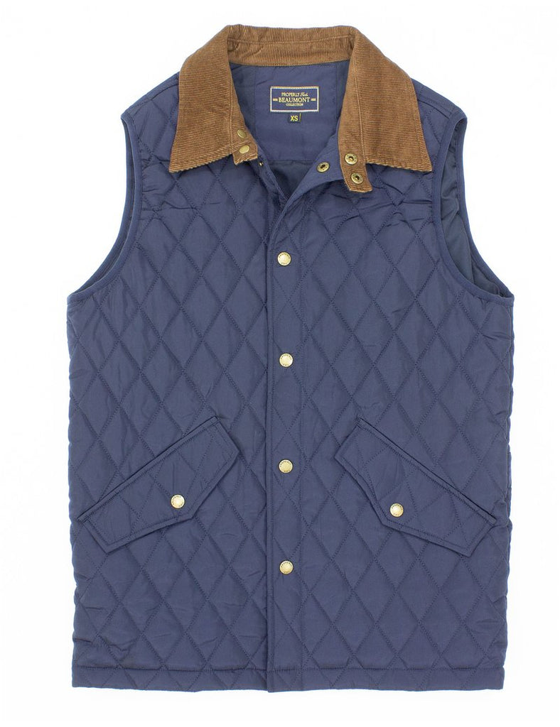 Properly Tied- Beaumont Vest Navy - Mumzie's Children