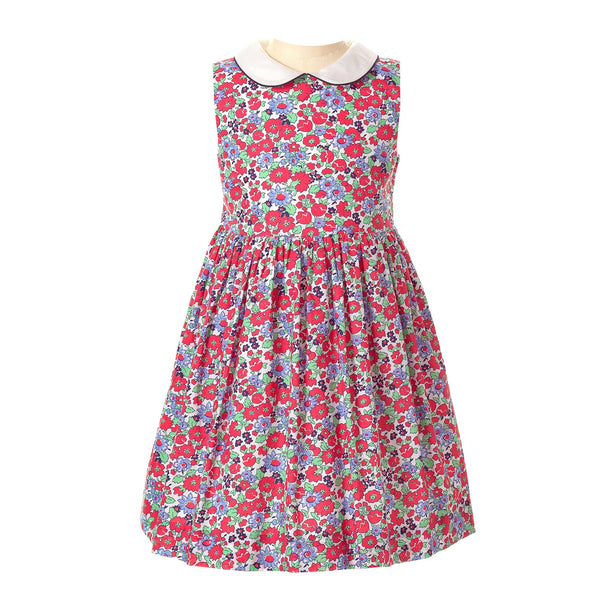 Garden Floral Peter Pan Collar Dress - Mumzie's Children