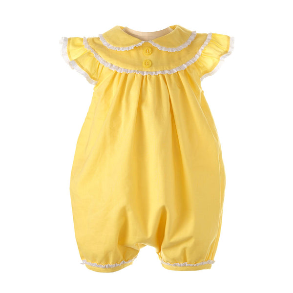Lace Trim Bubble- Yellow