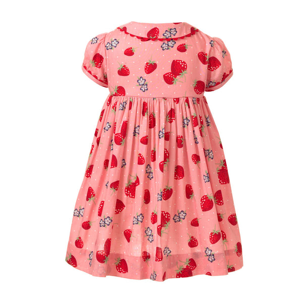 Strawberry Button Front Dress - Mumzie's Children