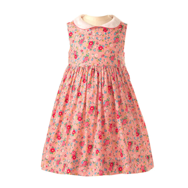 Rose Peter Pan Collar Dress - Mumzie's Children
