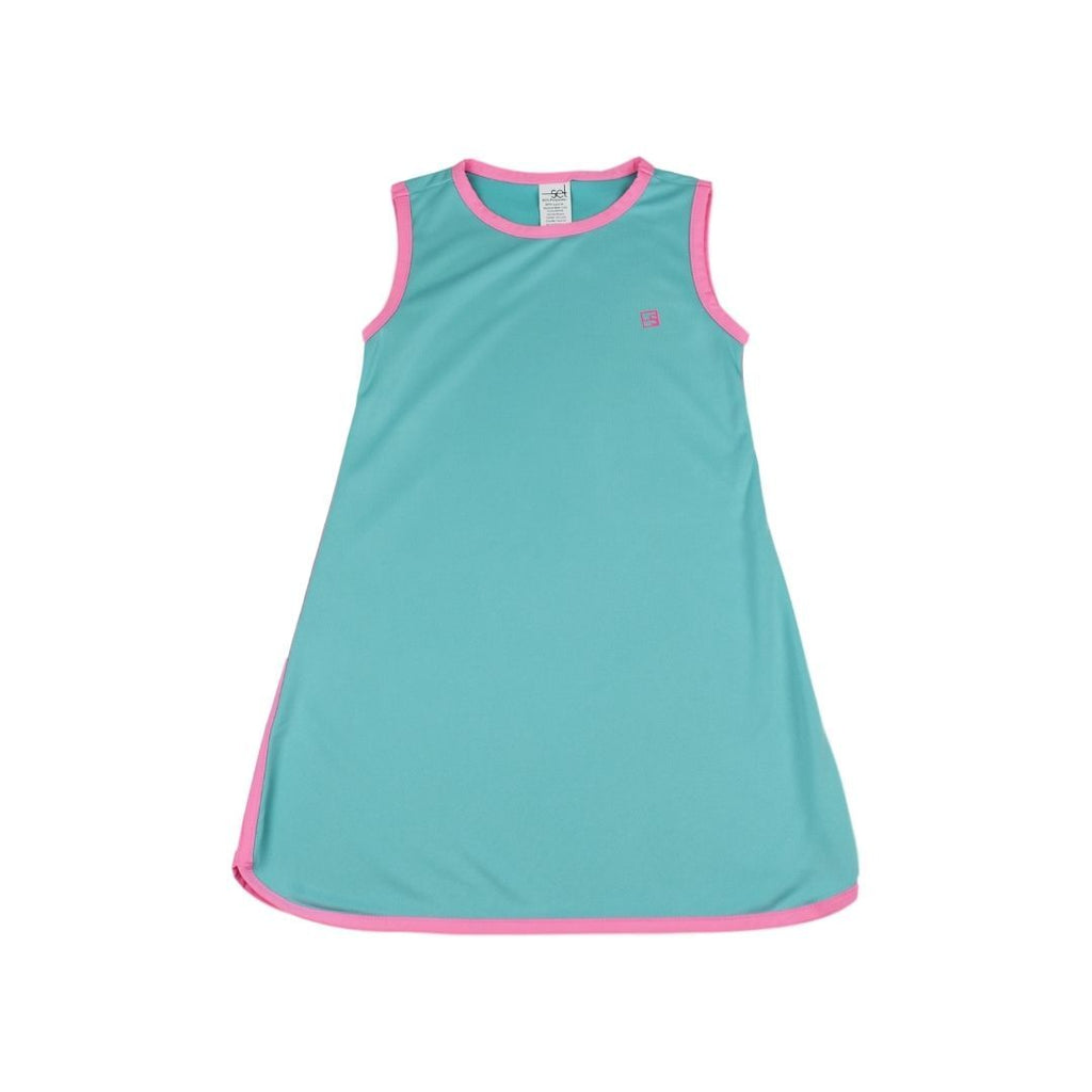 Tinsley Tennis Dress - Turquoise/ Pink - Mumzie's Children