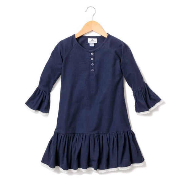 Petite Plume- Navy Gown with Lace - Mumzie's Children