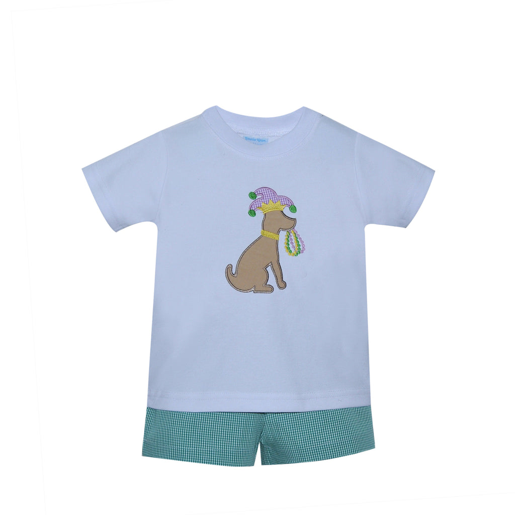 Green Carnival Dog Short Set - Mumzie's Children