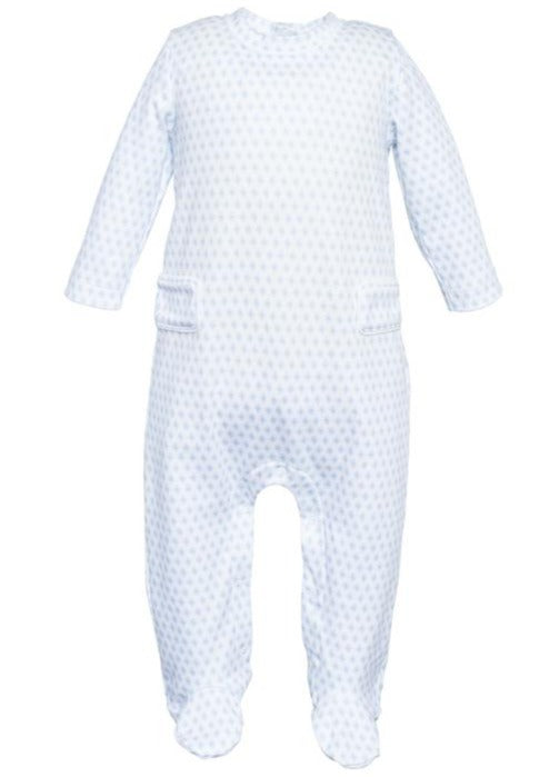 Preston - Boys Footed Romper - Baby Blue Sputnik - Mumzie's Children