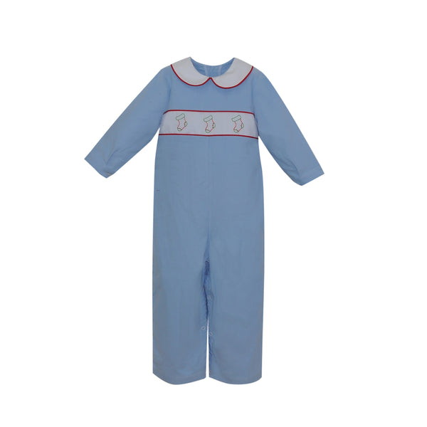 Stockings were Hung- Boys Rover Romper