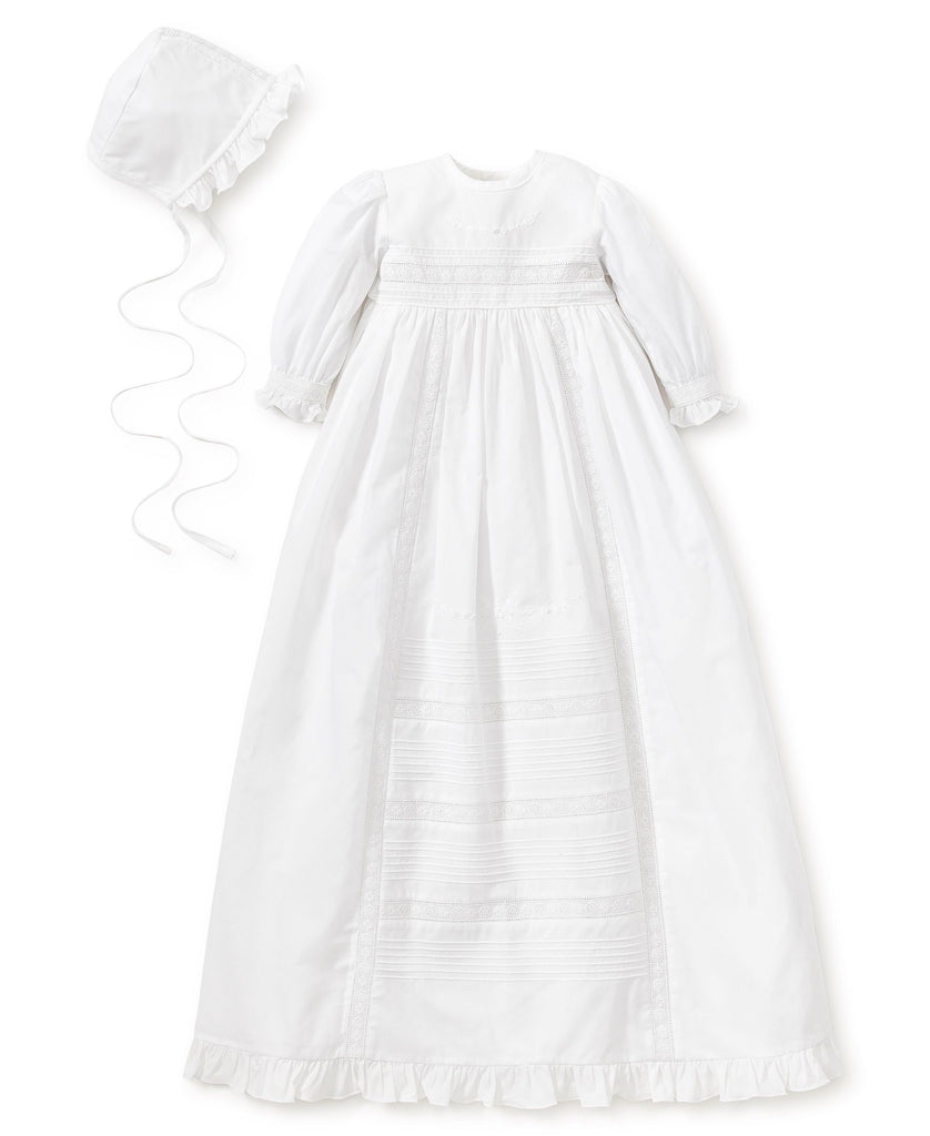 Kissy Kissy Nicole Baptism Long Sleeve Gown & Hat Set - Mumzie's Children