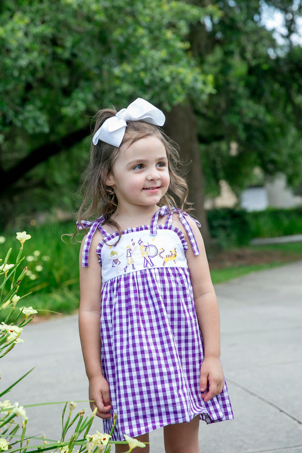LSU Game Day Tie Dress