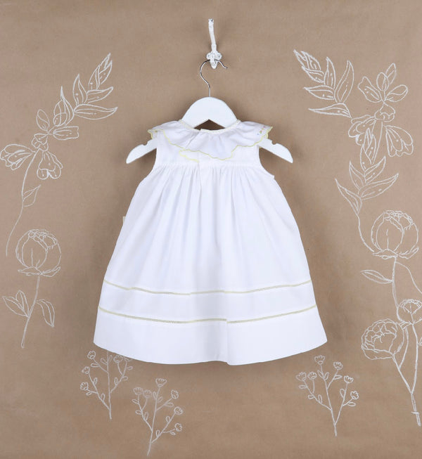 Classic White Ruffle Dress - Mumzie's Children