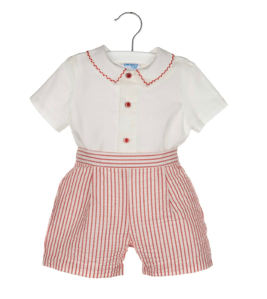 Set Stripes Boy Short- Red