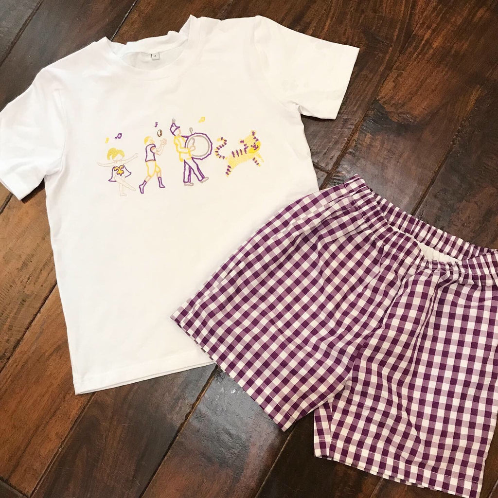 LSU Game Day Short Set - Mumzie's Children