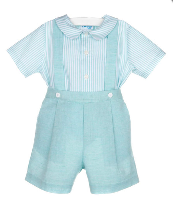 Aqua Shorts with Suspender - Mumzie's Children